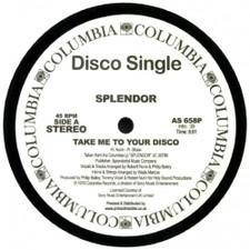 """Splendor - Take Me To Your Disco / Special Lady - 12"""" Vinyl"""