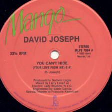 """David Joseph - You Can't Hide Your Love From Me - 12"""" Vinyl"""