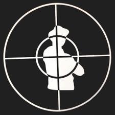 Public Enemy - Crosshairs (White On Black) - Single Slipmat