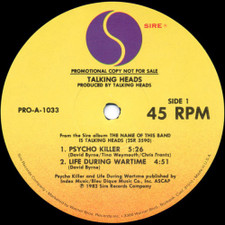 "Talking Heads - Psycho Killer/Take Me To The River - 12"" Vinyl"