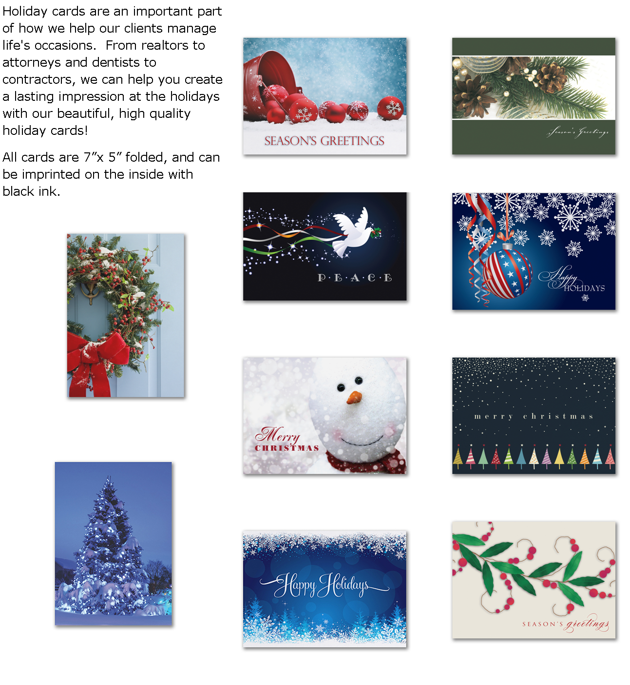 holiday cards with textpng - Holiday Cards 2017