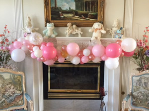 """Organic"" Balloon garlands and swags by the foot or by the piece.  Customize your design with color, texture and various balloon sizes to create one of a kind balloon deocr"