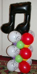 Short Stack Balloon Column.  Maybe you need something shorter than a full height balloon column.  It's A Wrap! can make those too.