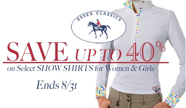 Save up to 40% on Essex Show Shirts!