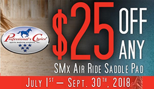 Save $25 on any SMx Air Ride Saddle Pad!