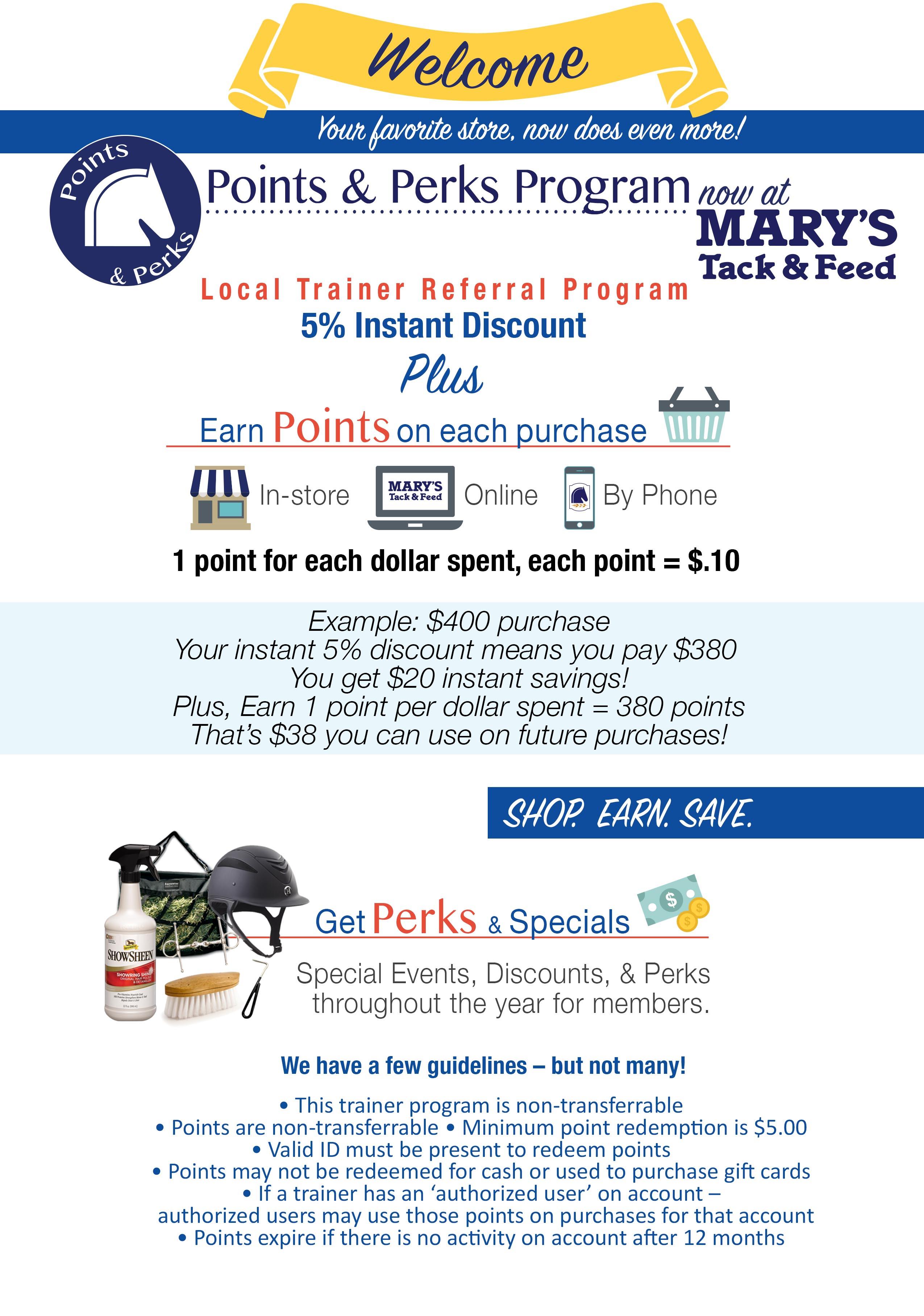Local Trainer Points & Points Program