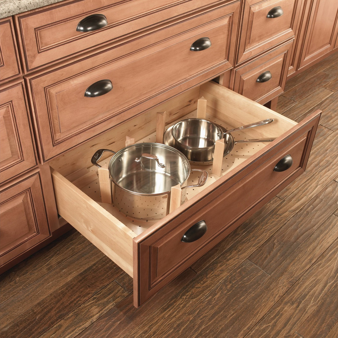 Kitchen Cabinets With Drawers: Pegged Deep Drawer Organizer
