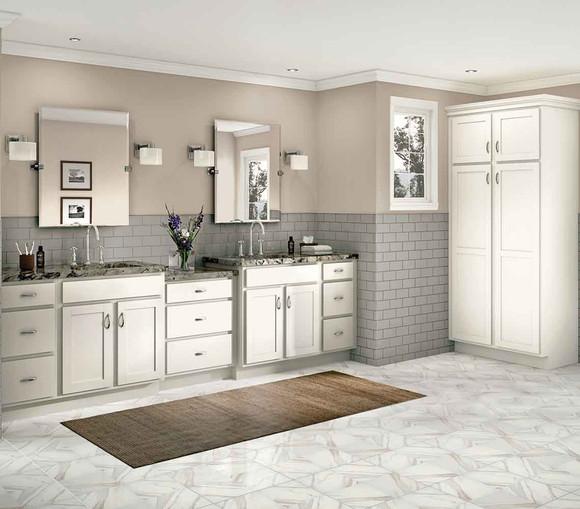 White Kitchen Cabinets Quality: WoodStar Maddie In White Laminate