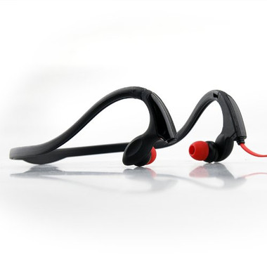 Buy NoiseHush 3.5mm Sports Neckband Stereo Headphones (Black/Red) with Free Shipping from www.creekle.com