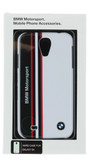 BMW Motorsport Snap-on Case for Samsung Galaxy S4 (White W/ Black/Red Stripes) available from www.creekle.com