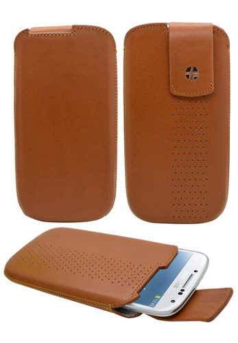 Buy Trexta Lifter Leather Pouch Case for Samsung Galaxy S4 (Camel) with Free Shipping from www.creekle.com