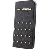 Karl Lagerfeld BookType Trendy Collection with Studs for iPhone 5 / 5s / SE - Black