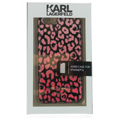 Karl Lagerfeld Leopard Camouflage Hard Case for iPhone  6 / 6s - Pink