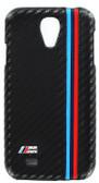 BMW M Performance Carbon Fiber Effect Hard Case for Samsung Galaxy S4 - Black