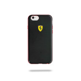 Ferrari Paddock TPU Case Carbon Effect w/ Red Edges for iPhone 6 Plus / 6s Plus - Black