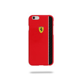 Ferrari Scuderia Glossy Carbon Fiber Plate Hard Case for iPhone 6 Plus / 6s Plus - Red