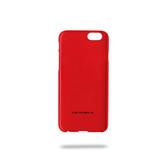 Ferrari Scuderia Gossy Carbon Fiber Bottom Hard Case for iPhone 6 / 6s - Red
