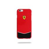 Ferrari Scuderia Gossy Carbon Fiber Bottom Hard Case for iPhone 6 Plus / 6s Plus - Red