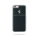 Ferrari Scuderia Berlinetta Perforated Leather Hard Case for iPhone 6 Plus / 6s Plus - Blue w/ Beige Stitching
