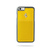 Ferrari Scuderia Berlinetta Perforated Leather Hard Case for iPhone 6 / 6s - Yellow w/ Beige Stitching