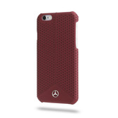 Mercedes-Benz Pure Line Genuine Leather Perforated Leather Hard Case for iPhone 6 / 6s - Red