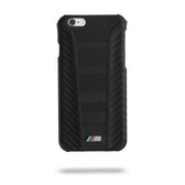 BMW Carbon Inspiration Leather Hard Case for iPhone 6 / 6s Plus - Black