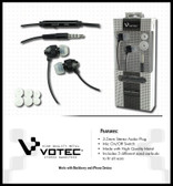 Buy Votec 3.5mm Stereo Headset W/ In-line Mic (Black) with Free Shipping from www.creekle.com