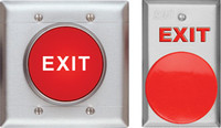 "442U SDC Exit Switch, 2-5/8"" Mushroom, MO, DPST, 6 Amp, Steel Bezel, 2-Gang - Qty. 1"