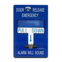 492 SDC Emergency Door Release Pull Station with Siren, 1-Gang, Blue, DPDT, 10 Amp, 12/24V AC/DC - Qty. 1