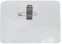 1817-1000 Clear Vinyl Horizontal Holder W/pin-clip Combo Attachment Holes - Qty 100