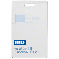 1326LSSRV HID ProxCard II Proximity Card with HID Logo, Random Numbering and Vertical Slot  - Qty. 100