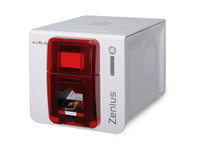 ZN1H0000RS Evolis Zenius Red Expert ID Card Printer Single-Sided {map:1690}