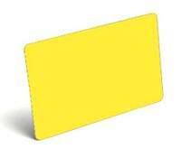 Fluorescent Yellow Blank PVC Cards