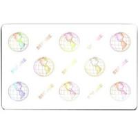 104524-120 Zebra® PVC Cards World Globe Embedded Hologram - Qty. 500