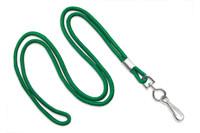 "2135-3004 Green Round 1/8"" Standard Lanyard W/ Nickel Plated Steel Swivel Hook - Qty. 100"