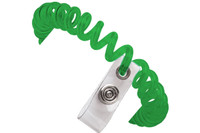 2140-6104  Green Wrist Coil W/ Clear Vinyl Strap - Qty. 250