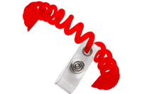 2140-6106  Red Wrist Coil W/ Clear Vinyl Strap - Qty. 250