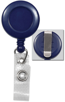 2120-3002 Blue Badge Reel W/ Reinforced Vinyl Strap & Belt Clip - Qty. 100