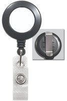 2120-3020 Grey Clip-on Retractable Badge Reel with Reinforced Vinyl Strap - Qty. 100