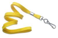 "2135-3509 Yellow 3/8"" Flat Braid Woven Lanyard W/ Nickel-plated Steel Swivel Hook - Qty. 100"