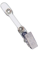 "2105-2011 Clear Vinyl Strap Clip W/ NPS Clip & ""Narrow Middle"" - Qty. 100"