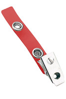 2105-2006 Red Vinyl Strap Clip W/ 2-hole NPS Clip - Qty. 100
