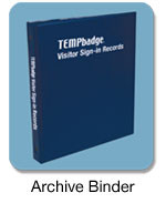 05405 - TEMPbadge Archive Binder - Qty. 1