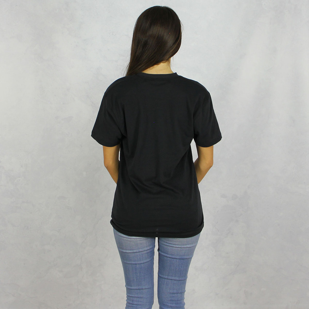 Alpha Chi Omega Short Sleeve T-Shirt in Black Back