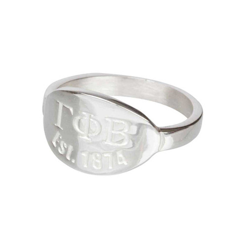 Gamma Phi Beta Silver Ring