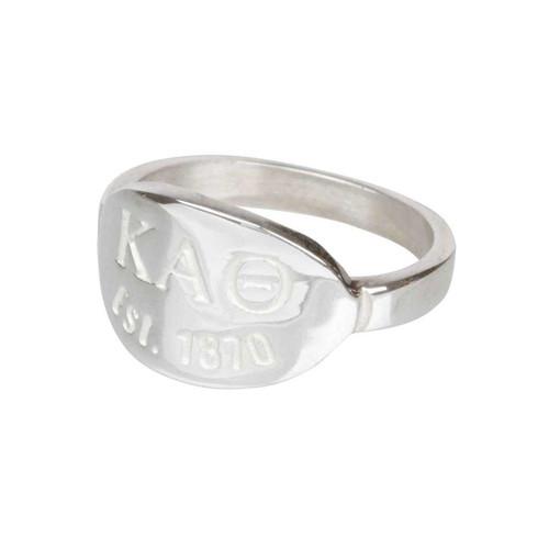 Kappa Alpha Theta Silver Ring