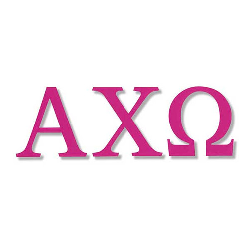 Alpha Chi Omega Jumbo Sticker in Hot Pink