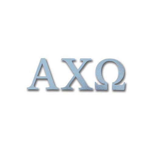 Alpha Chi Omega Letter Sticker in Silver