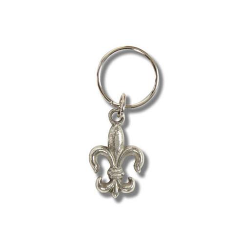 Kappa Kappa Gamma  Fleur-De-Lis Keychain in Silver