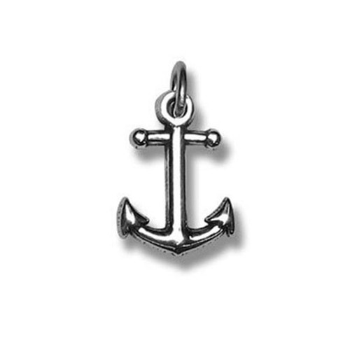 Delta Gamma Big Anchor Charm in Sterling Silver